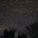 Star trails in a cloudy night 20210511,                                Sergio Alessandrelli