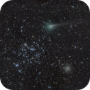 Comet 67P Churyumov-Gerasimenko passing by open cluster M35 and NGC 2158 on the morning of October 15th,                                Achim Schaller
