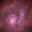 M8 - Lagoon Nebula & Open Cluster NGC 6530,                                David Schlaudt