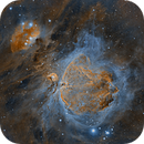 Orion Nebula in Narrowband,                                flyingairedale