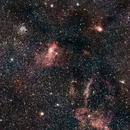 M52, bubble nebula (NGC7635) and neighbours,                                GalacticRAVE