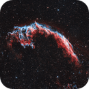 Caldwell 33 - Eastern Veil Nebula in HOO,                                Dale Hollenbaugh