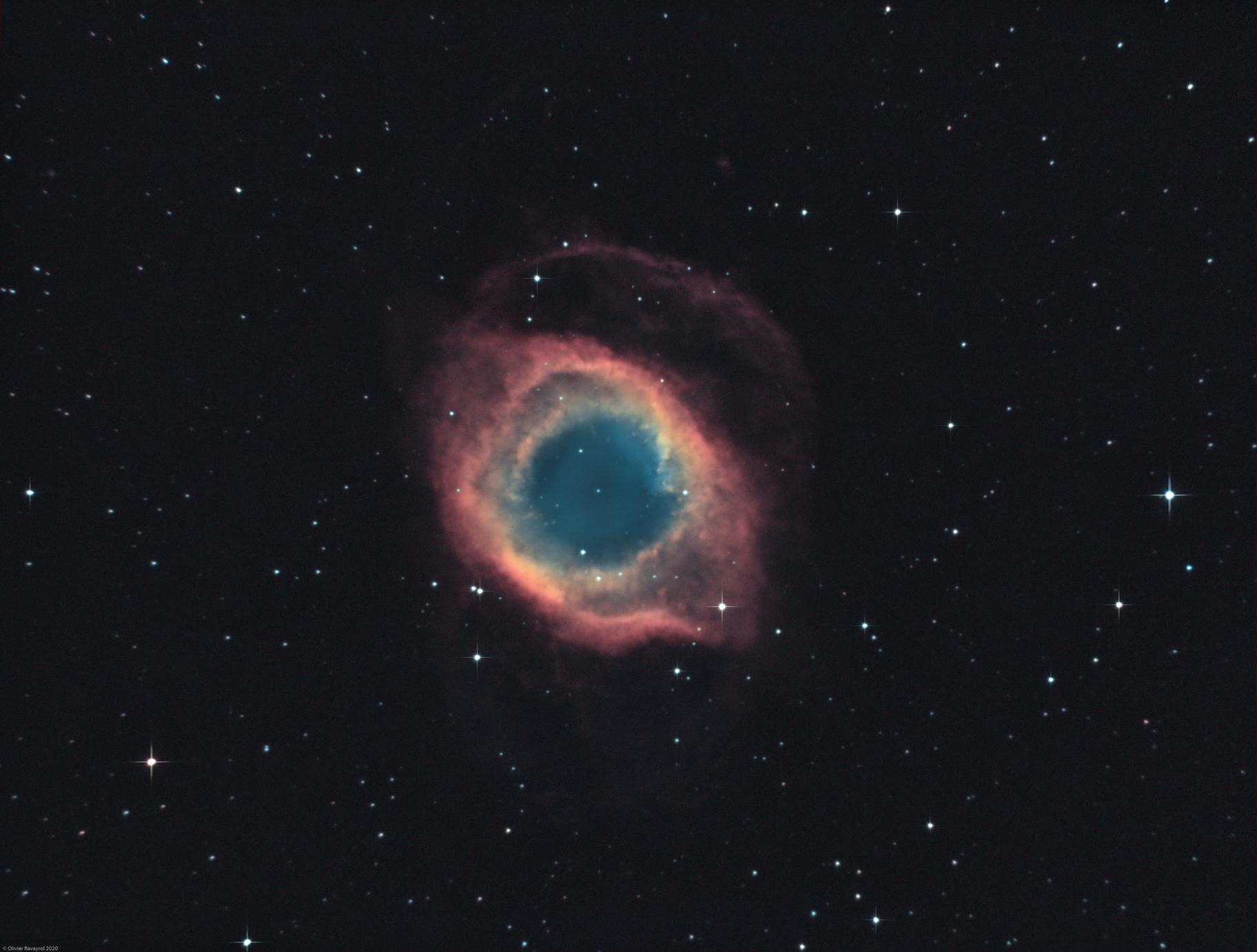 NGC 7293 - The Helix Nebula (Ha-HOO),                                Olivier Ravayrol