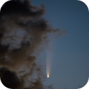 """Comet (C/2020 F3) NEOWISE  """"Descending"""" through Cloud over Beckwith Township, Ontario, Canada,                                Doug Griffith"""