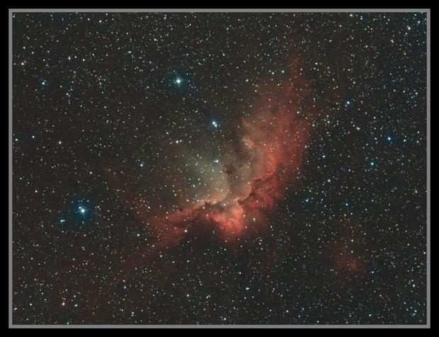 NGC 7380 L(HaSll)HOO - Canon 1100Da,                                Kenneth Sneis