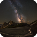 Mosaic MilkyWay on the Col du Tourmalet under the Pic du Midi,                                Maxime Tessier