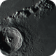 Crater Eratosthenes in colour with the Moon 22d and 15h old,                                Niall MacNeill