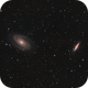 Bode's Galaxy (M81) and the Cigar Galaxy (M82) HaLRGB,                                Larry
