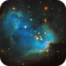 NGC602 - a young, bright open cluster in the Small Magellanic Cloud,                                Oliver Czernetz