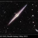 NGC 4565, The Needle Galaxy, 3 May 2013,                                David Dearden