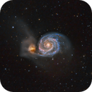 M51 - The Whirlpool Galaxy in HaLRGB,                                Patrick Cosgrove