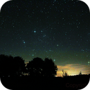 Auriga constellation and pleiades ,                                Rodeon