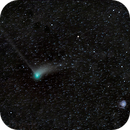 Comet Catalina near Pinwheel Galaxy, from not very dark sky..,                                David Dvali