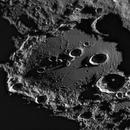 Clavius one day after the first lunar quarter,                                MAILLARD