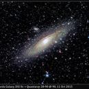M31, Andromeda Galaxy, DSI IIc + Quantaray, 11 Oct 2015,                                David Dearden