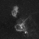 Heart and soul nebulae (Hydrogen Wide field crop),                                Jocelyn Podmilsak