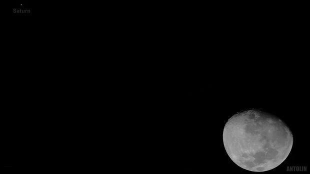 Moon and Saturn in conjunction,                                Estevão Antolin