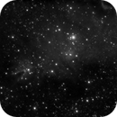 NGC2264 - Cone Nebula and Christmas Tree Cluster - Evoguide ED50 - H-alpha,                                altazastro