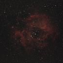 Rosettennebel NGC 2237 mit offenem Sternhaufen NGC 2244 im Einhorn - nur ein T e s t !,                                astrobrandy