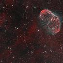 NGC 6888 Crescent Nebula and PN G75.5+1.7 Soap Bubble Nebula, bicolor,                                Alexander Sorokin