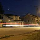 Crescent Moon & Traffic Trails,                                Zach Coldebella