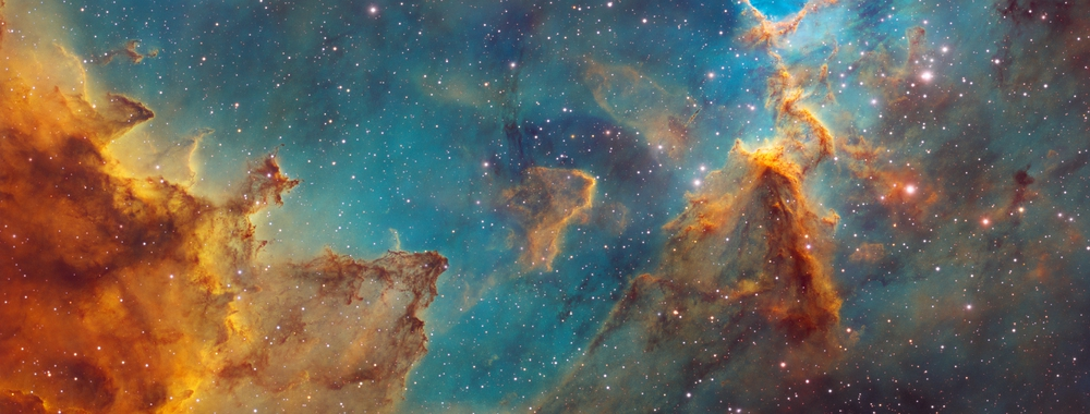 Melotte 15 - The Center of the Heart Nebula (Hubble Palette),                                Bogdan Jarzyna