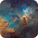 Melotte 15 - The Center of the Heart Nebula (Hubble Palette),                                Bogdan Jarzyna