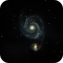 Messier 51 the Great Whirlpool Galaxy in Canes Venatici,                                Kenneth Adler