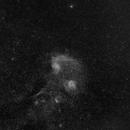 Flaming Star Nebula at 85mm in Ha,                                JDJ