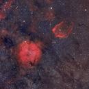 IC1396 and Sharpless 129 in Cepheus,                                Scott Tucker