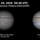Jupiter on May 29, 2019 - Various Filters,                                JDJ