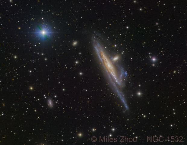 Haley's Coronet (NGC 1532; LRGB),                                Miles Zhou