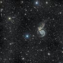Whirlpool Galaxy (Messier 51) -- DSW,                                Miles Zhou