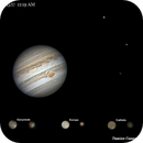 Jupiter, 3 Moons (with surface detail!),                                Damien Cannane
