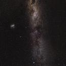 Magellanic Clouds with Milky Way,                                KiwiAstro