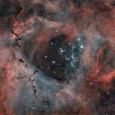 Rosette Nebula - Full Moon - Duo Narrowbandfilter test,                                Kai Albrecht