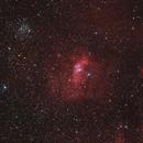 Bubble-Nebula & M52 - Ha-RGB,                                Jonas Illner