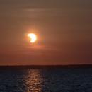 Crescent Sunrise at Houghton Lake Michigan,                                David Redwine