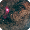 Messier 20 & Messier 8 Area,                                Miles Zhou