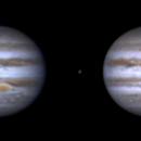 Jupiter and Io (10 nov 2014, 06:32/06:36), parallel 3D,                                Star Hunter