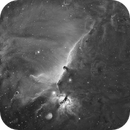 Horsehead and Flame Nebulae in H-Alpha,                                Josh Lake