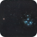 Pleiades - M45 - seven sisters with Mars conjunction,                                ALEXANDROS CHALOOUPKA