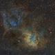 SH2-132 in SHO, APO 80x480  /  ATIK ONE  /  AZEQ6,                                Pulsar59