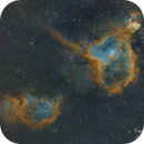 Heart and Soul Nebula (Bortle 8),                                Carastro