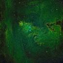 Konusnebel Narrowband mit Hubbles veränderlichen Nebel oben.,                                Caspar Schumann