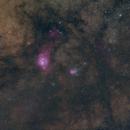 Lagoon & Trifid Nebulas,                                Landon Boehm