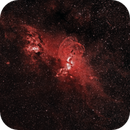 NGC 3576 - Statue of Liberty Nebula,                                Cluster One Observatory