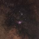 Milky Way in Sagittarius, M8, M20,                                Serge