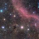 """zona in Orione con la nebulosa """"Boogieman"""" e M78,                                Rolando Ligustri"""