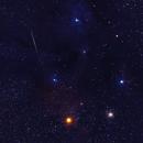 Meteor , Antares, M4 and Rho Ophiuchi,                                Tim McCollum